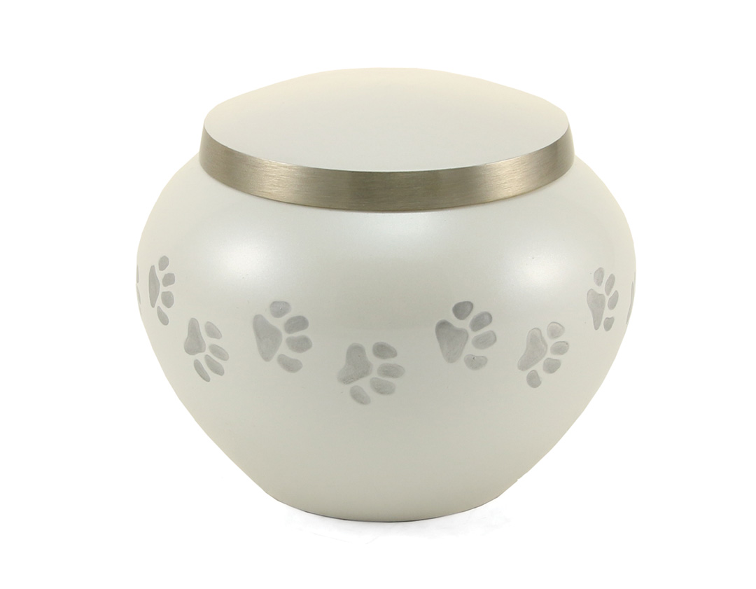 Odyssey Paw Print Urn - Pearl Image