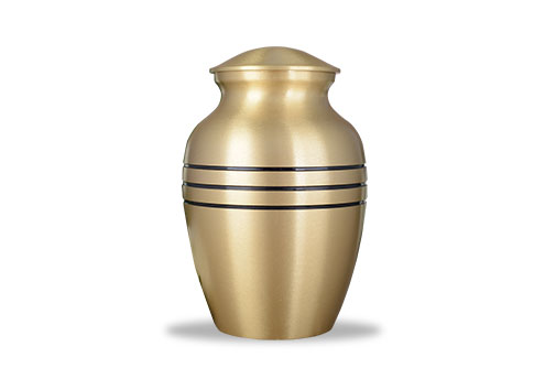 Brushed finished Urn - Bronze Image