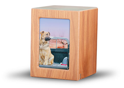 Wood Photo Urn- Natural Image