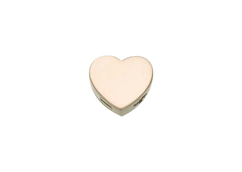 Slide Heart Pendant- Large- Gold Vermeil Image